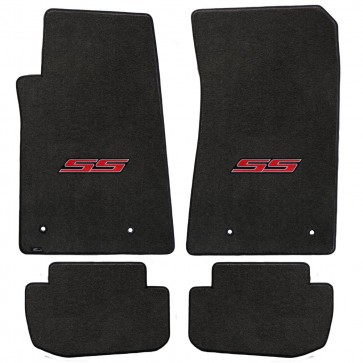 Camaro 2010-2015 4Pc Mats Ebony Velourtex SS Logo