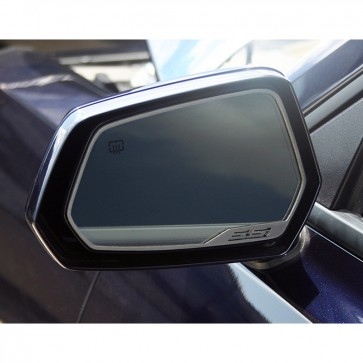 Camaro Side View Mirror Trim - SS- Brushed Stainless