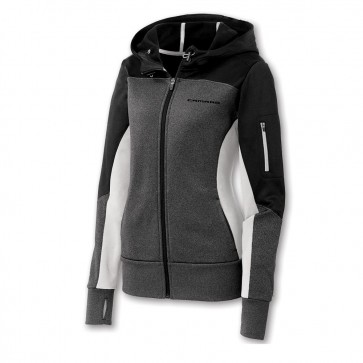 Full-Zip Colorblock Jacket - Black/Graphite/White