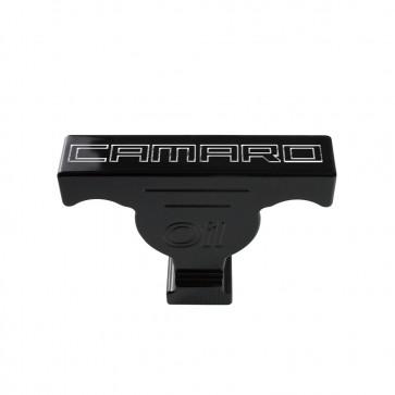 Gen-6 Camaro Oil Dip Stick Handle Cover - Bowtie Logo