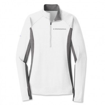 Accent Half-Zip Pullover - White/Charcoal Gray Heather