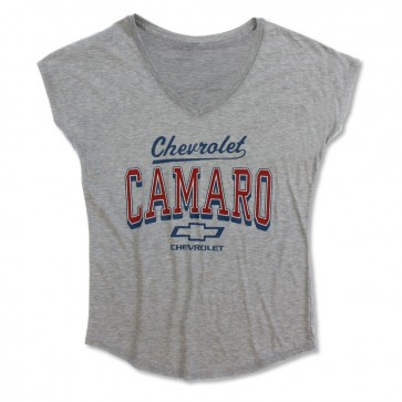 Camaro Dolman V-Neck Tee - Heather Gray