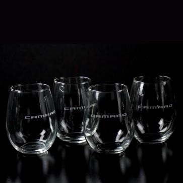 Camaro Stemless Wine Glass Set - 12 oz.