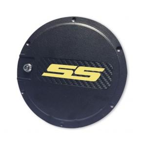 SS Logo Locking Fuel Door - Black