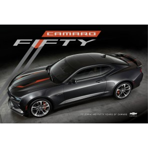 Camaro Fifty Ariel View Poster