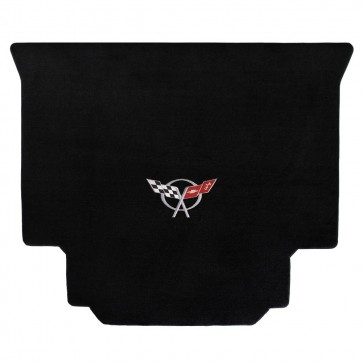 Corvette 1999-2004 Hardtop Cargo Mat Black Velourtex C5 Logo