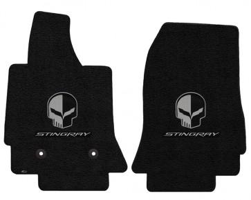 Corvette Stingray Jake 2 Pc. Ultimat™ Floor Mat Set - Jet (2014 & up)