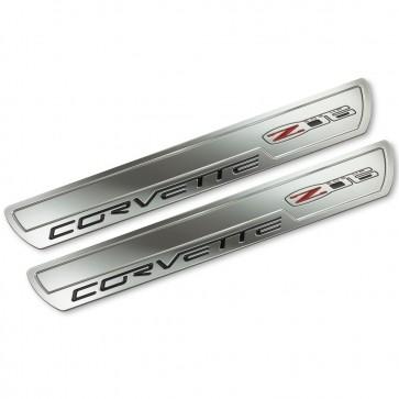 Corvette C6 Z06 Chrome Doorsill Plates