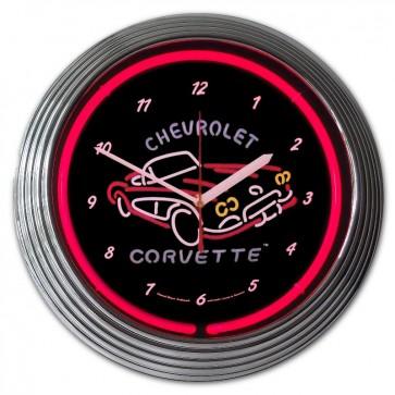Corvette C1   Neon Clock