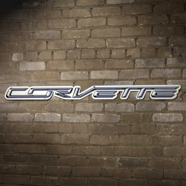 "Corvette Script Steel Sign   18"" x 1.5"""