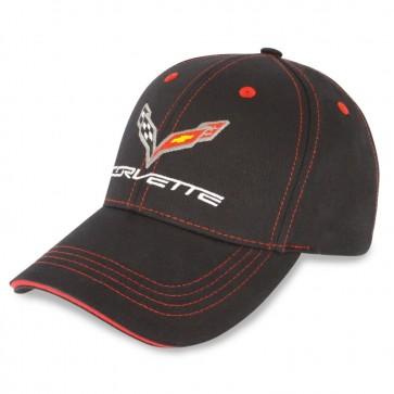 C7 Stingray Patch Cap   Black / Red