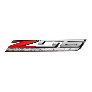 "Corvette ""Z06 Supercharged"" Metal Sign - 18"" x 3"""