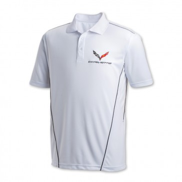 Corvette Stingray Sport Polo - White