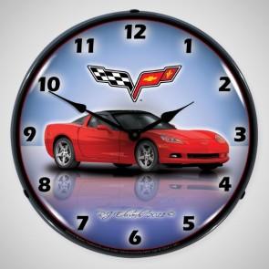Custom Corvette C6 Lighted Clock
