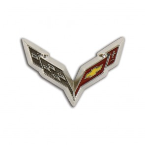 C7 Corvette Crossed Flags Lapel Pin
