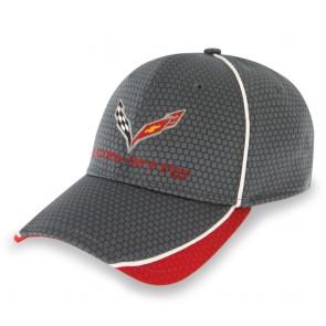 Corvette Hex Pattern Cap - Graphite/Red