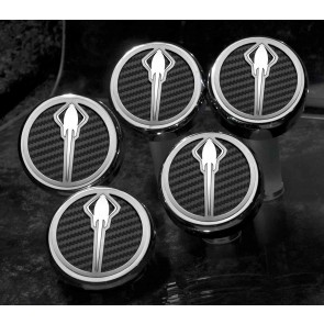 Stingray Emblem Carbon Fiber Fluid Cap Cover Set (Automatic)