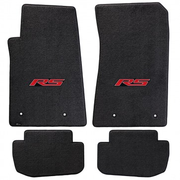 Camaro 2010-2015 4Pc Mats Ebony Ultimat RS Logo