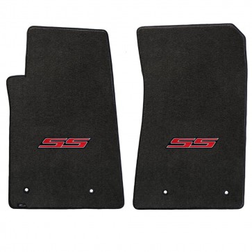 Camaro 2016 2Pc Mats Ebony Velourtex SS Logo