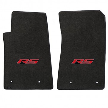 Camaro 2016 2Pc Mats Ebony Velourtex RS Logo