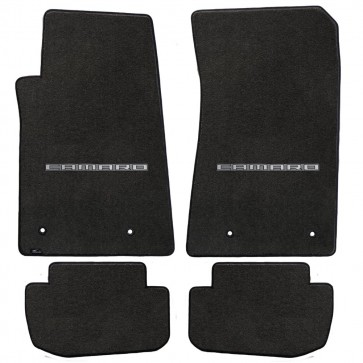 Camaro 2010-2015 4Pc Mats Ebony Velourtex Camaro Logo
