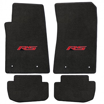 Camaro 2016 4Pc Mats Ebony Velourtex RS Logo