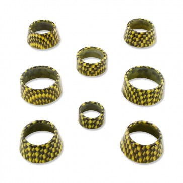 Gen-6 Carbon Fiber Pattern Interior Knob Cover Kit