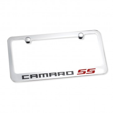 Camaro SS License Plate Frame - Chrome