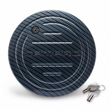 Camaro OEM Locking Fuel Door with Carbon Fiber Finish – Camaro Logo