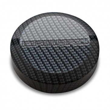 Officially GM-licensed Carbon Fiber pattern Strut Covers with Camaro logo.