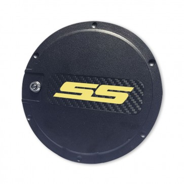SS Logo Locking Fuel Door - Black