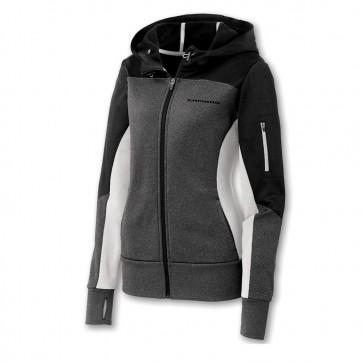 Full-Zip Colorblock Jacket - Black/Graphite/White
