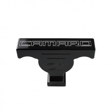 Gen-6 Camaro Oil Dip Stick Handle Cover - Bowtie Logo