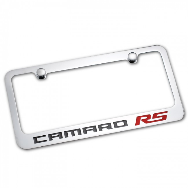 Camaro RS License Plate Frame - Chrome