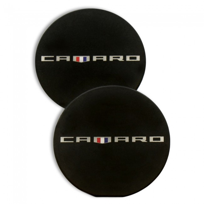 Camaro Heritage Car Coasters Black