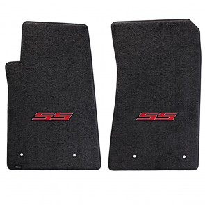 Camaro 2016 2Pc Mats Ebony Ultimat SS Logo