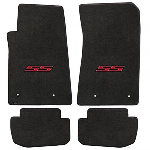 Camaro 2016 4Pc Mats Ebony Velourtex SS Logo