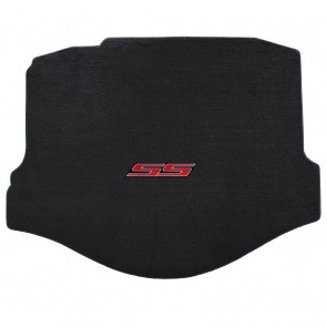 Camaro 2016 Coupe Trunk Mat Ebony Velourtex SS Logo