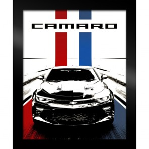 "Camaro Stylized Artwork in Black Frame 19"" x 23"""
