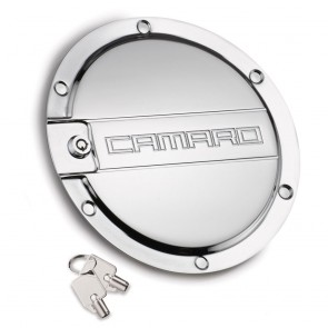 Camaro Locking Fuel Door - Chrome