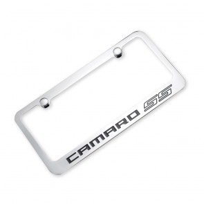 Camaro SS Outline License Plate Frame - Chrome