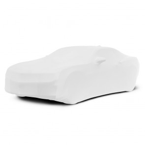 2010-2016 Satin Stretch Indoor Camaro Car Cover - White