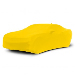 2010-2016 Satin Stretch Indoor Camaro Car Cover - Yellow