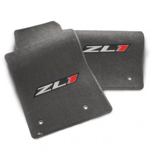 Camaro 2010-2015 ZL1 Floor Mats - Gray - 2pc Set