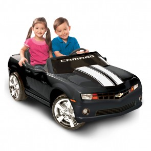 Motorized Camaro Ride-On | Black/White Stripes