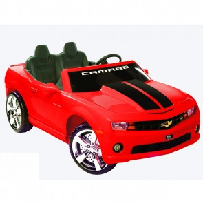 Motorized Camaro Ride-On - Red/Black Stripes