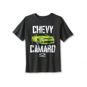 Chevy Camaro Youth Tee - Heather Black