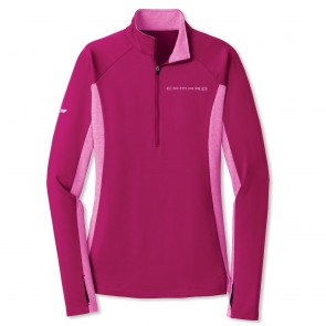 Accent Half-Zip Pullover - Pink Rush/Pink Rush Heather