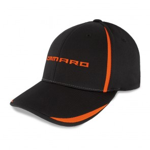 Performance Accent Cap | Black/Orange