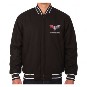 Camaro Two-Way Varsity Jacket | Black